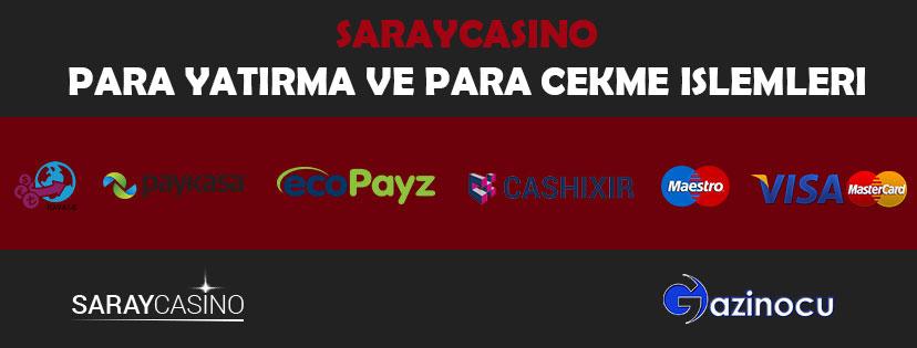 Saraycasino Para Yatırma ve Para Çekme